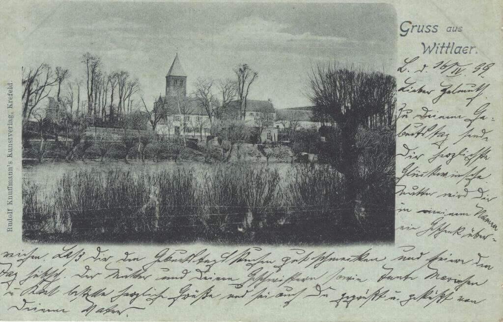 Postkarte Wittlaer 1899 klein