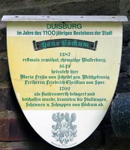 Denkmaltafel an Haus Böckum